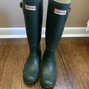Hunter Forest Green Tall Rain Boots
